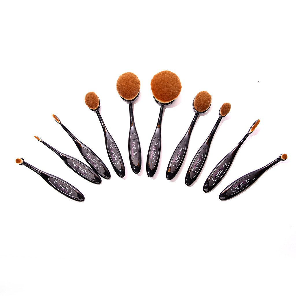 Foolzy BR-20B Oval Makeup Brush sets