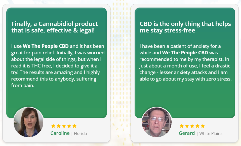 We The People CBD Oil reviews